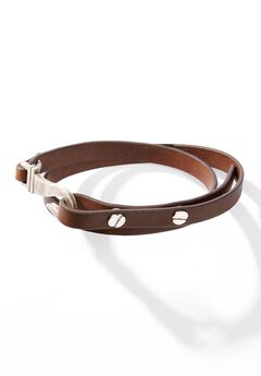 Leather Adjustable Wrap Bracelet,