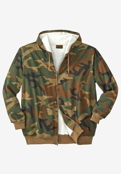 Thermal Lined Full-Zip Hoodie by Boulder Creek®, CAMO