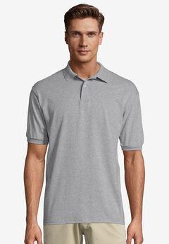 Hanes® ComfortBlend EcoSmart Jersey Polo Shirt, ASH, hi-res