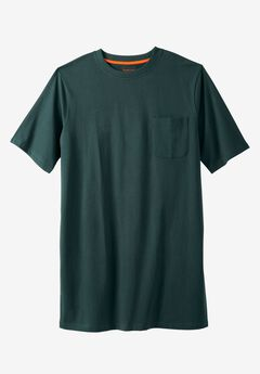 Longer-Length Pocket Crewneck Tee by Boulder Creek®,
