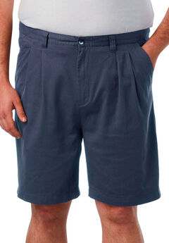 Knockarounds® 8' Pleat Front Shorts, NAVY
