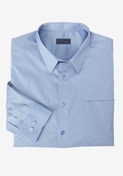 Modern Fit Long-Sleeve Broadcloth Flex Dress Shirt by KS Signature, BLUE CLOUD, hi-res