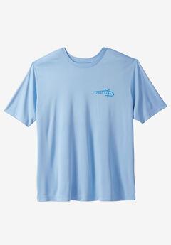 Short Sleeve Pelagic Tee by Reel Life® , LITE ECO BLUE, hi-res