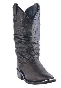 Dingo 12' Slouch Boots, BLACK, hi-res
