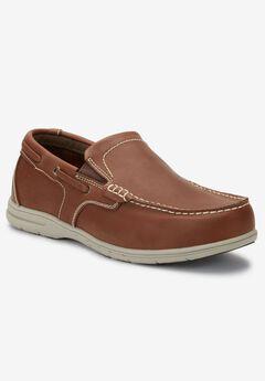 Slip-On Boat Shoes, MEDIUM BROWN