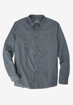 Long-Sleeve Utility Shirt by Liberty Blues®, CHAMBRAY