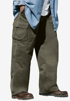 Renegade Cargo Pants with Side Elastic by Boulder Creek®, OLIVE