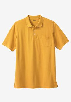 Longer-Length Piqué Pocket Polo,