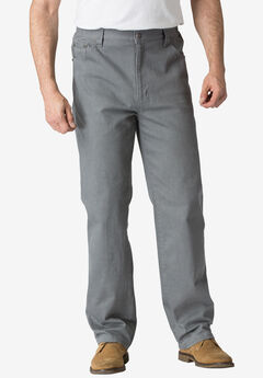 Relaxed Fit 5-Pocket Stretch Jeans by Liberty Blues®, STEEL, hi-res