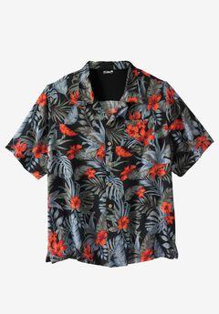 Island Print Rayon Shirt by KS Island™, TWILIGHT ISLAND