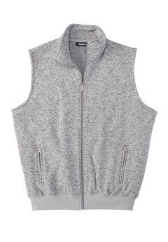 Fleece Zip-Up Sweater Vest,