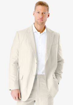 Linen Blend Two-Button Suit Jacket by KS Island™, WHITE, hi-res