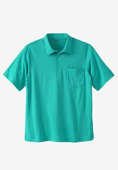 Golf Polo With Pocket, TIDAL GREEN