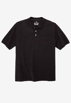 Classic Fit Stretch Polo by Liberty Blues®, HEATHER CHARCOAL, hi-res