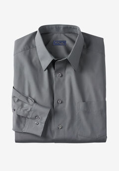 No Hassle® Long-Sleeve Dress Shirt by KS Signature®, STEEL