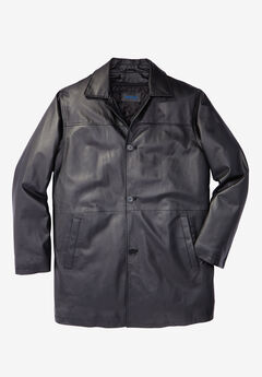 Leather Car Coat,