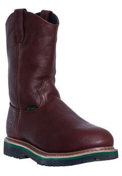 John Deere 11' Steel Toe Pull-On Boot , DARK BROWN, hi-res