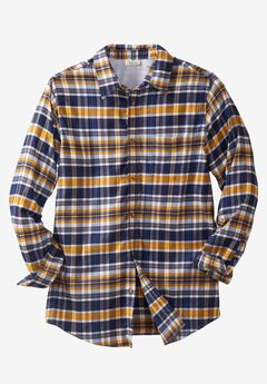 Lightweight Flex Flannel Shirt by Liberty Blues®, NAVY PLAID, hi-res