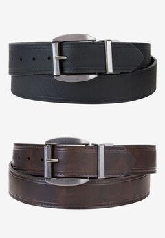 Reversible Jean Belt by Wrangler®, BLACK BROWN, hi-res
