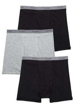 Hanes® Boxer Brief 3-Pack, BLACK GREY BLACK, hi-res