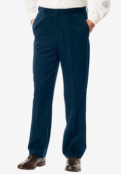 No Hassle® Modern Fit Expandable Waist Plain Front Dress Pants, NAVY, hi-res