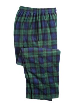 Microfleece Pajama Pants, TARTAN PLAID, hi-res