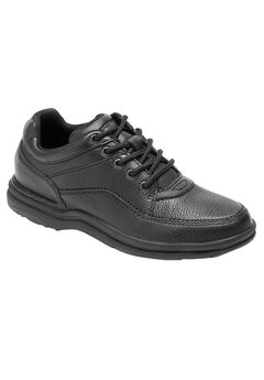 World Tour Classic Walking Shoe by Rockport®, BLACK TUMBLED, hi-res