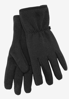 Sweater Fleece Gloves, BLACK MARL, hi-res