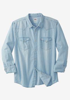 Denim Western Shirt by Levi's®, WASHED BLUE, hi-res