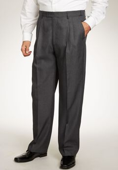 Easy Movement® Pleat-Front Expandable Dress Pants by KS Signature, CHARCOAL PINDOT, hi-res