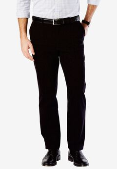 Clean Khaki Easy Khaki Flat Front Pant by Dockers®, BLACK, hi-res