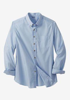 Shrink-Less™ Long Sleeve Sport Shirt, BLUE HARBOR, hi-res