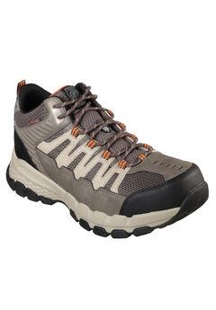 Queznell Steel Toe Waterproof Work Boot by Skechers®, GREY, hi-res