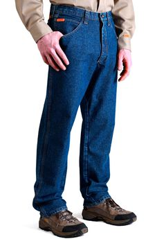 Flame Resistant Relaxed Fit Jeans by Wrangler®,