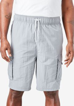 Nylon Cargo Swim Trunks,