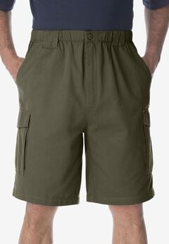 9' Renegade Cargo Shorts with Full Elastic Waist by Boulder Creek®, OLIVE