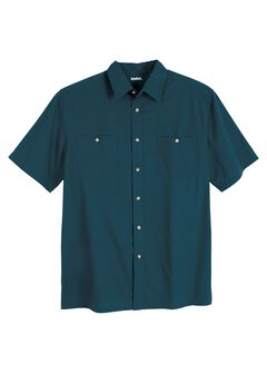 Short Sleeve Solid Sport Shirt, MIDNIGHT TEAL