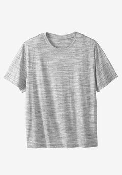 Crewneck Flex Short-Sleeve Tee by Liberty Blues® , WHITE MARL, hi-res
