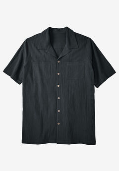 Gauze Cotton Camp Shirt,