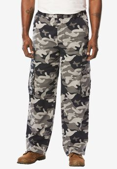 Side-Elastic Ranger Cargo Pants by Boulder Creek®, BLACK CAMO, hi-res