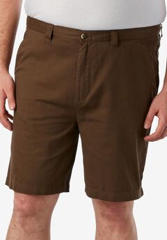 Knockarounds® 8&#34 Full Elastic Plain Front Shorts, DARK WHEAT, hi-res
