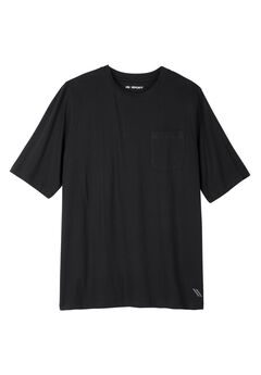 Comfort Cool Crewneck Tee by KS Sport™, BLACK, hi-res