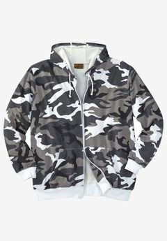 Thermal Lined Full-Zip Hoodie by Boulder Creek®, STEEL CAMO