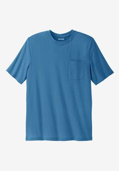 Shrink-Less™ Lightweight Pocket Crewneck Tee, ATLANTIC, hi-res