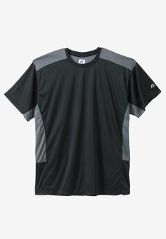 Dri-Power Short-Sleeve Performance Tee by Russell Athletic®, BLACK CHARCOAL, hi-res