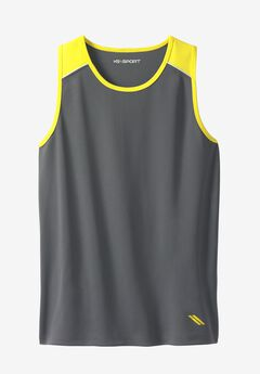 Power Wicking Tank by KS Sport™, STEEL NEON YELLOW, hi-res