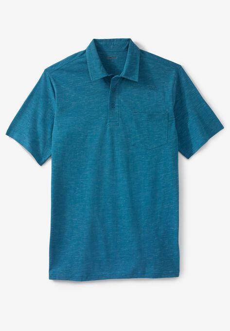 Shrink Less Lightweight Short Sleeve Polo Tee Plus Size Polos