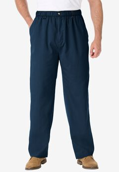 Knockarounds® Plain Front Pants in Twill or Denim, NAVY