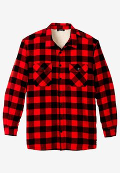 Flannel Sherpa Lined Shirt, , hi-res