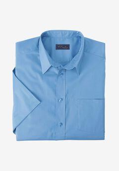 Classic Fit Broadcloth Flex Short-Sleeve Dress Shirt by KS Signature, BLUE CLOUD, hi-res